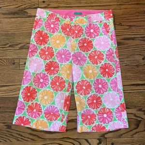 Lilly Pulitzer Palm beach fit capris/ culottes